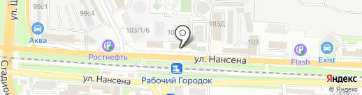 Магазин высокопрочного крепежа на карте Ростова-на-Дону