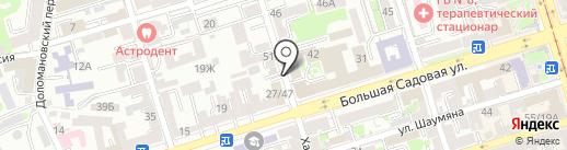 Дон-Право на карте Ростова-на-Дону