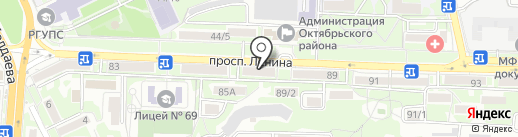 Южное юридическое бюро на карте Ростова-на-Дону