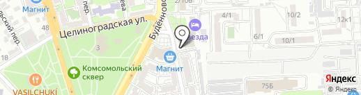 Армия России на карте Ростова-на-Дону