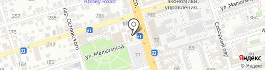 Дрёма на карте Ростова-на-Дону