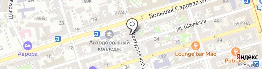Позолоченная рамка на карте Ростова-на-Дону