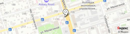 Сумочка на карте Ростова-на-Дону
