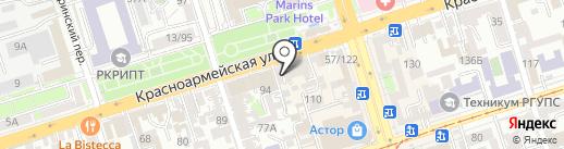 Служебный на карте Ростова-на-Дону
