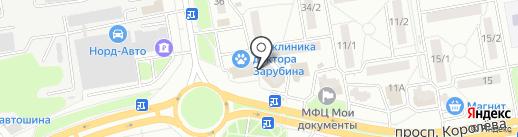 Киоск по продаже фруктов и овощей на карте Ростова-на-Дону