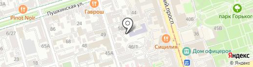 Островского 56, ТСЖ на карте Ростова-на-Дону