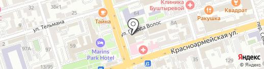 Банк Возрождение, ПАО на карте Ростова-на-Дону