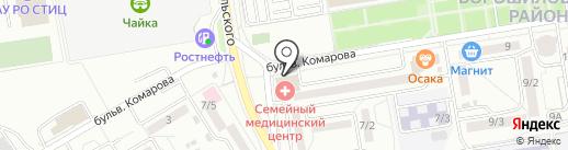 Итальянский Квартал на карте Ростова-на-Дону