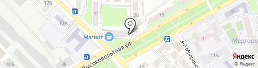 Сампрачка на карте Рязани