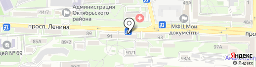 Драйвер 161 на карте Ростова-на-Дону