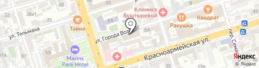 Улица закона на карте Ростова-на-Дону