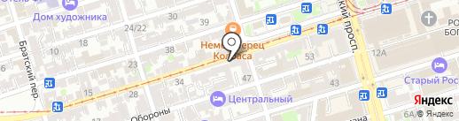 Споспешествование на карте Ростова-на-Дону