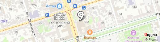 Банкомат, Почта Банк, ПАО, Ростовский филиал на карте Ростова-на-Дону