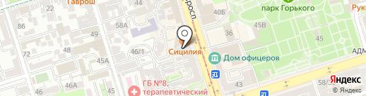 Адвокатский кабинет Мясникова А.Е. на карте Ростова-на-Дону