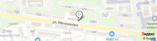 Столовая на карте Ростова-на-Дону
