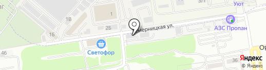 Главчист на карте Ростова-на-Дону