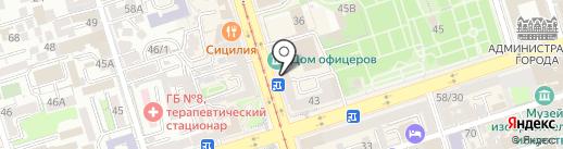 Игра на карте Ростова-на-Дону
