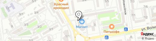 Тишина в ладошках на карте Ростова-на-Дону