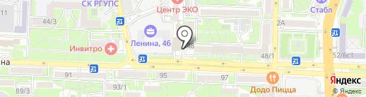 Серебро на карте Ростова-на-Дону