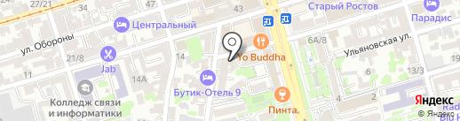 Фамилия на карте Ростова-на-Дону