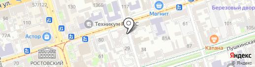 Копировальный центр на карте Ростова-на-Дону