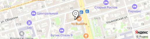 Юглидерстрой на карте Ростова-на-Дону