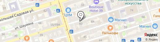 СТАРЫЙ РОСТОВ на карте Ростова-на-Дону