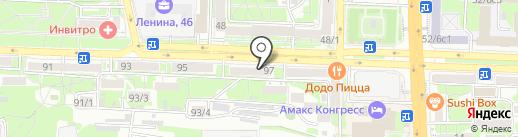 Клеона на карте Ростова-на-Дону