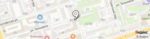 Колледж противопожарной и спасательной служб на карте Ростова-на-Дону