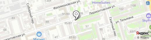 Киоск по продаже кондитерских изделий на карте Ростова-на-Дону