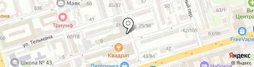 Банкомат, Банк ВТБ 24, ПАО на карте Ростова-на-Дону