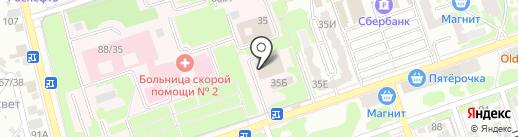 Союз офицеров запаса на карте Ростова-на-Дону