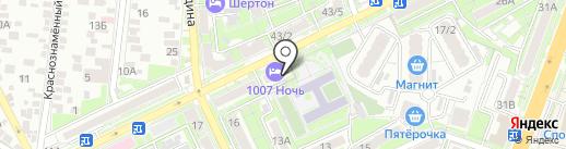 1007 ночь на карте Ростова-на-Дону