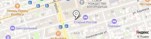 Центр на карте Ростова-на-Дону
