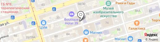 АдвенТур на карте Ростова-на-Дону