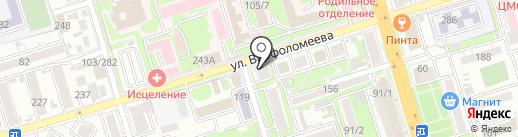 Три пятерки на карте Ростова-на-Дону