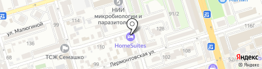 Home Suites на карте Ростова-на-Дону