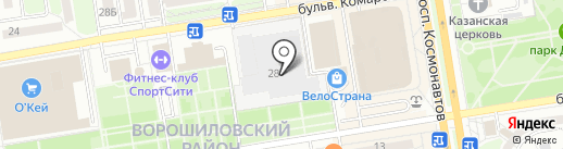 Мебельград на карте Ростова-на-Дону
