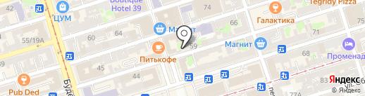 Секонд-хенд на карте Ростова-на-Дону