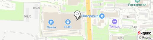 Арка на карте Ростова-на-Дону