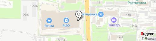 Александрит на карте Ростова-на-Дону