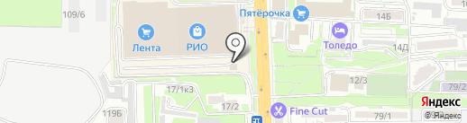 Веселая Затея на карте Ростова-на-Дону