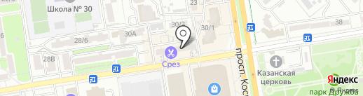 Бородач на карте Ростова-на-Дону