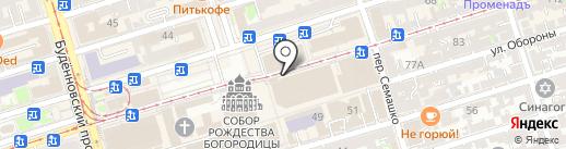 Магазин верхней одежды на карте Ростова-на-Дону