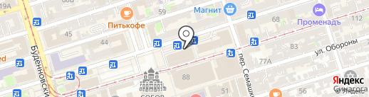 Фанагория на карте Ростова-на-Дону