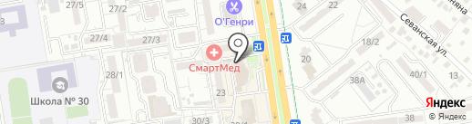 Элми на карте Ростова-на-Дону