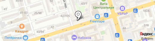 ПАМИРА на карте Ростова-на-Дону