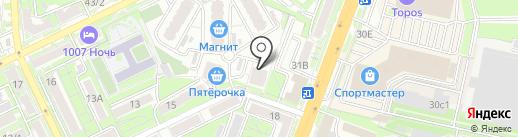 Сердце Ростова на карте Ростова-на-Дону