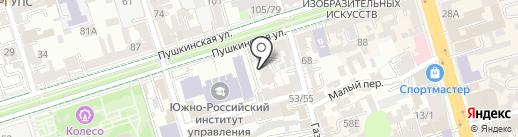 Примирение на карте Ростова-на-Дону