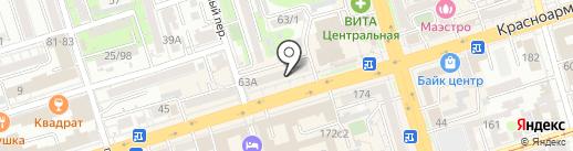 АКБ Связь-банк, ПАО на карте Ростова-на-Дону